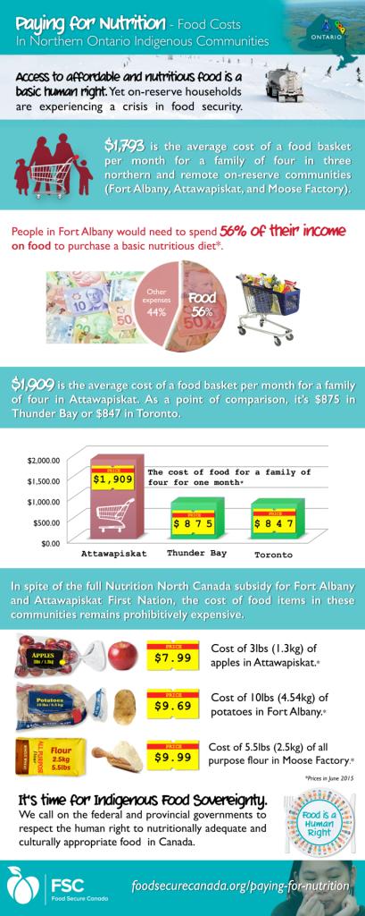 Infographic – Food Costs In Northern Ontario Indigenous Communities