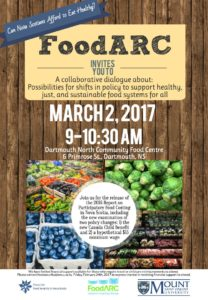 Flyer invite to the March 2, 2017 FoodARC event