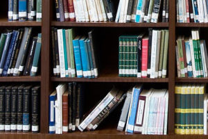 Photo - Publications on a shelf